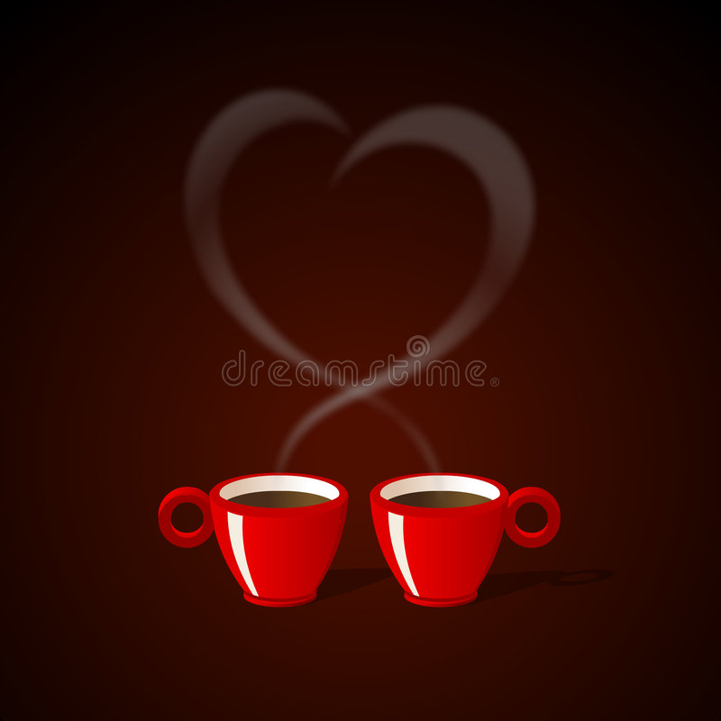 Café pour deux illustration stock