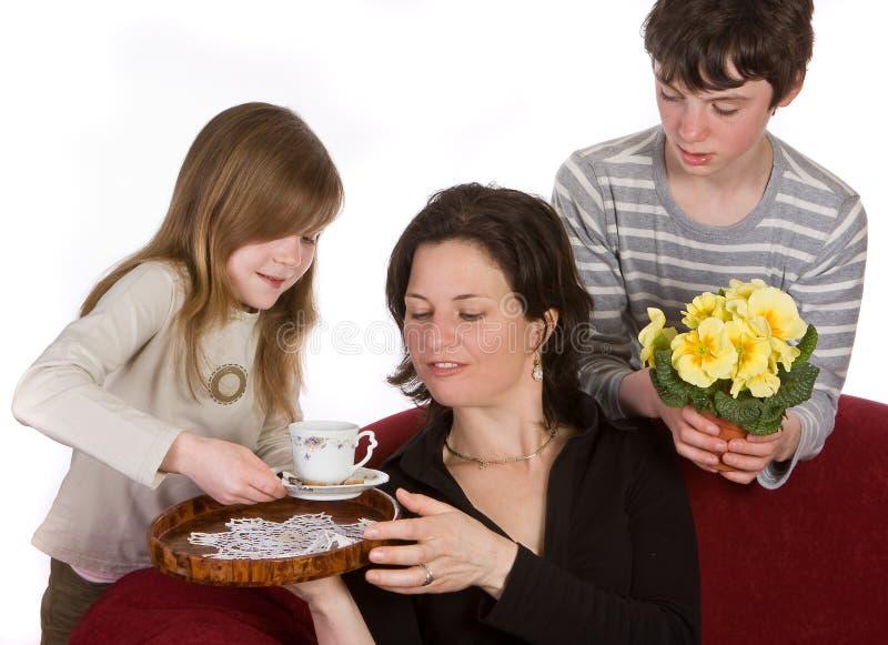 Café pour la maman photos stock
