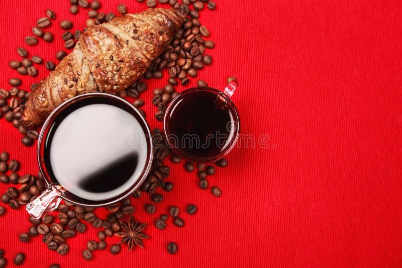 Café pour le petit déjeuner image stock