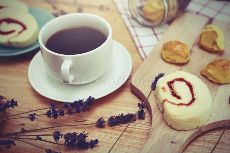 café preto com bekery fotos de stock