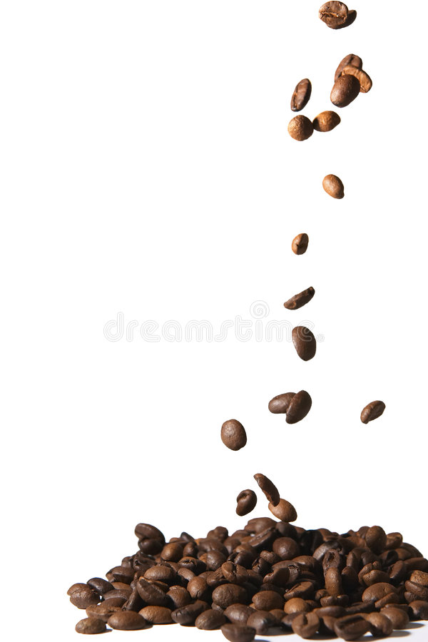 Download Café que cae imagen de archivo. Imagen de bebida, roast - 178005