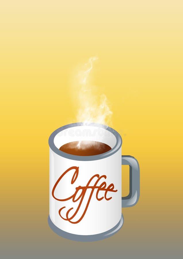 Café quente ilustração do vetor