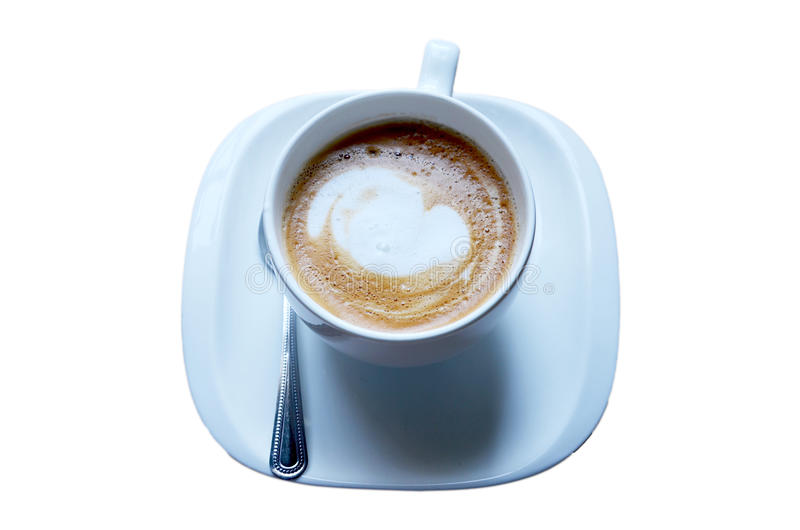 Café quente de Latte imagem de stock royalty free