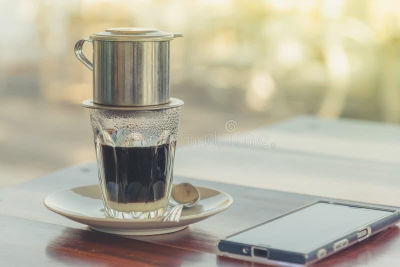 café quente de Vietnam fotografia de stock