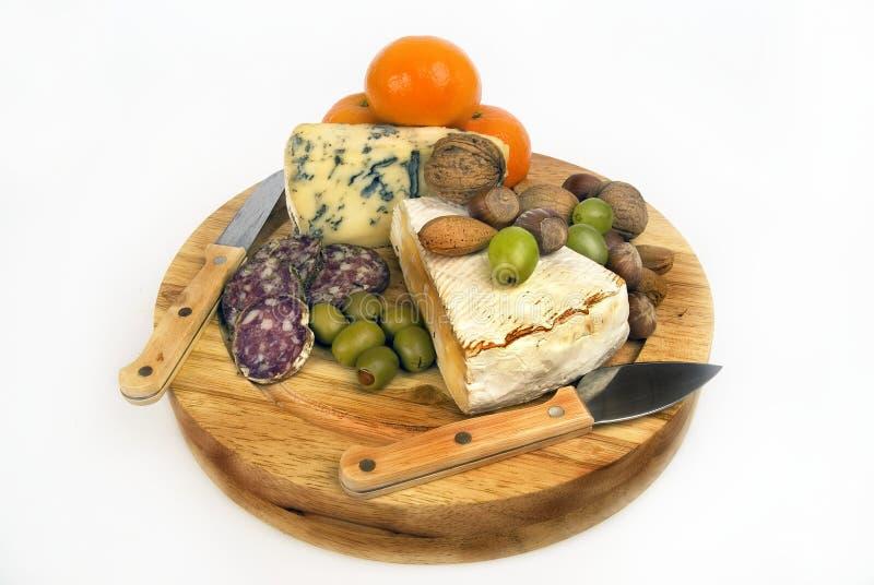 Café, queso, fruta foto de archivo