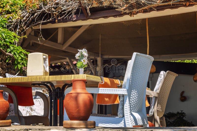 Café rústico en el lugar meridional del centro turístico Primer foto de archivo libre de regalías