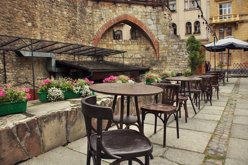 Café, restaurante, café al aire libre, café al aire libre fotos de archivo libres de regalías
