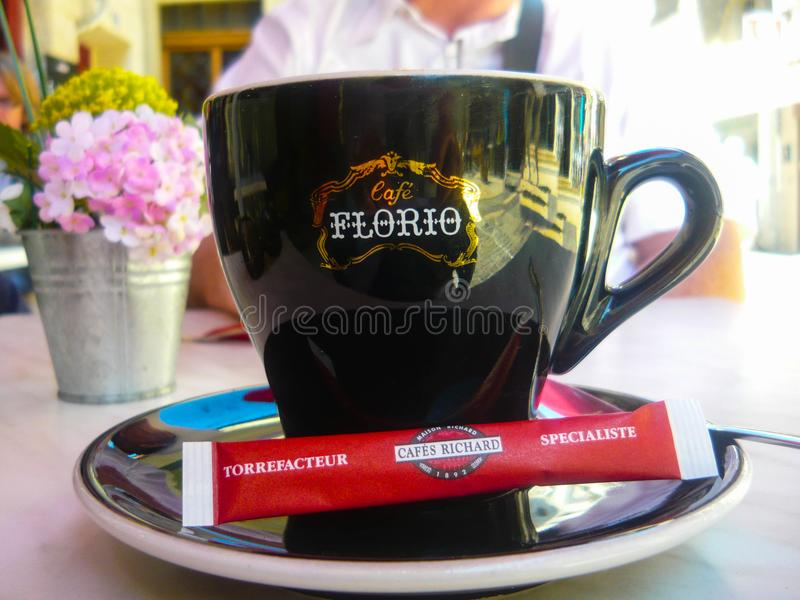 Café Richard Florio Coffee Cup stockbilder