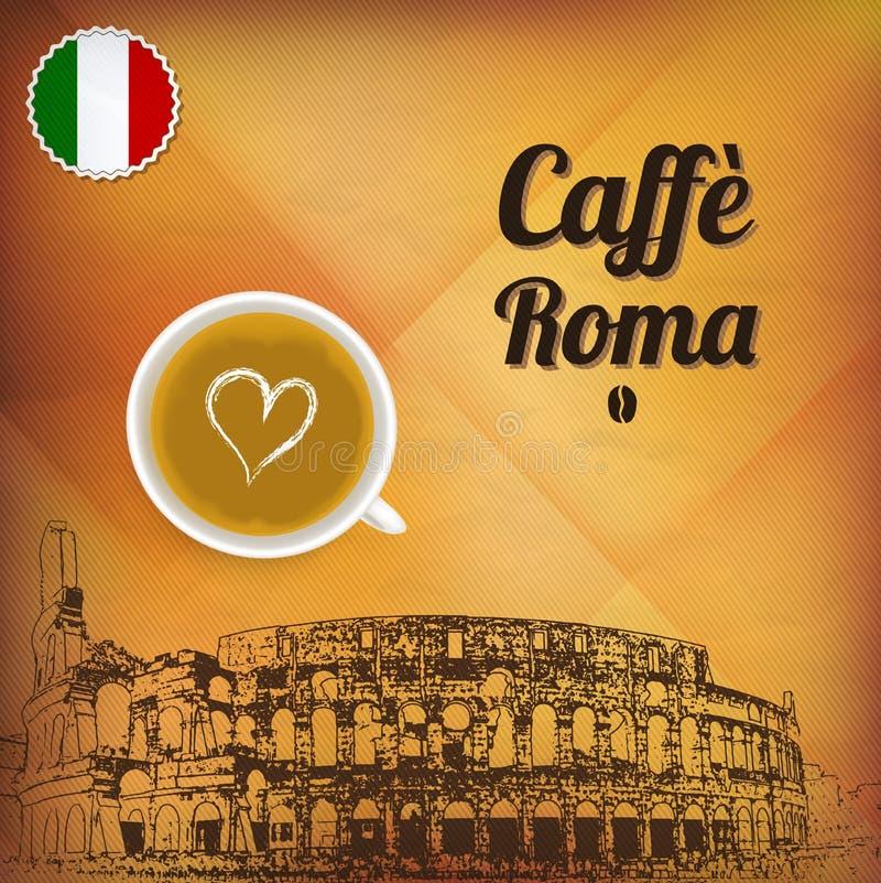 Café Rom lizenzfreie abbildung