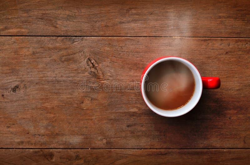 Café rouge de cuvette image libre de droits
