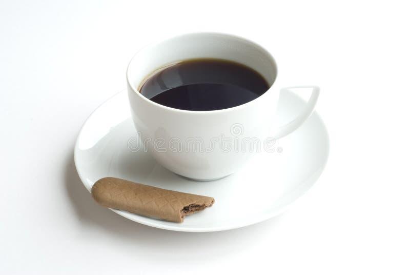 Café sólo y galleta imágenes de archivo libres de regalías