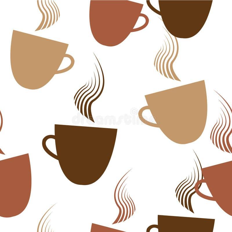 Café sem emenda Patern ilustração stock