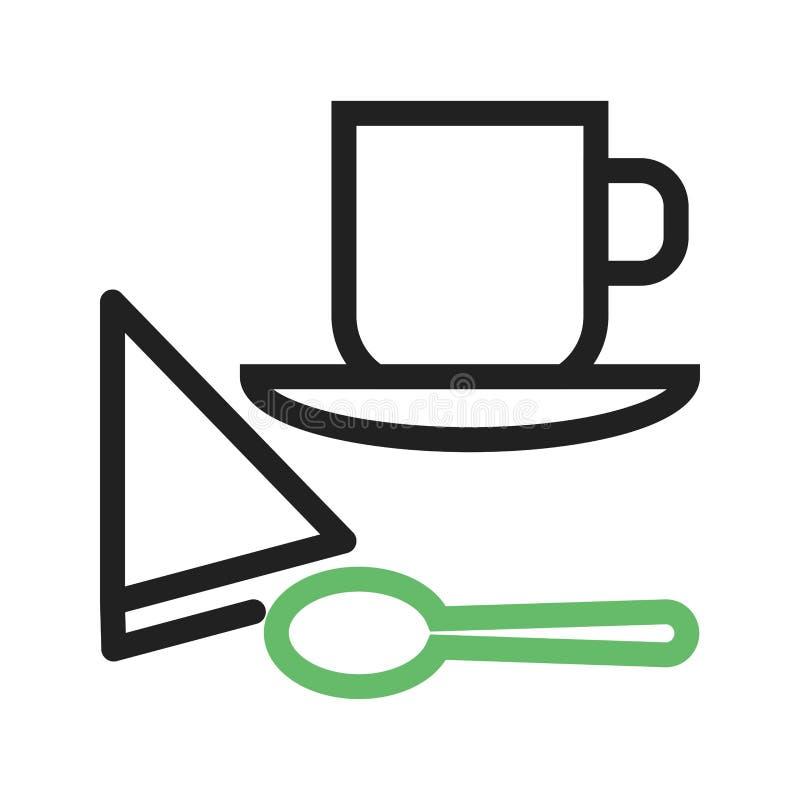 Café servi illustration stock