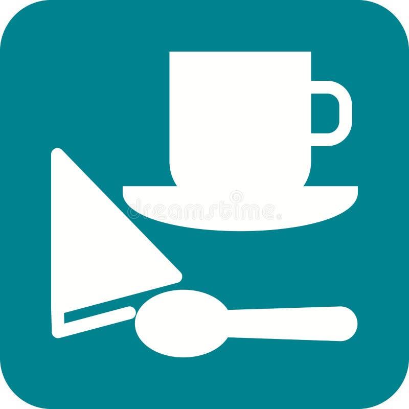 Café servi illustration de vecteur