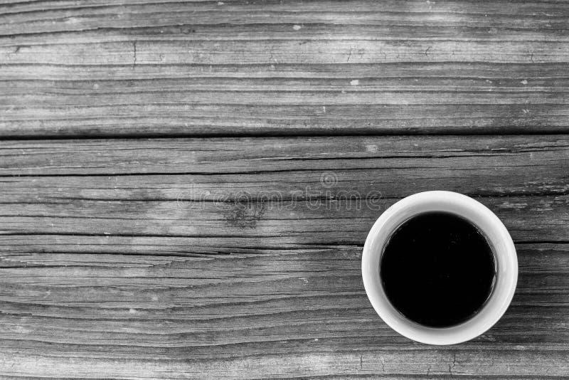 Café sur le bois photos stock