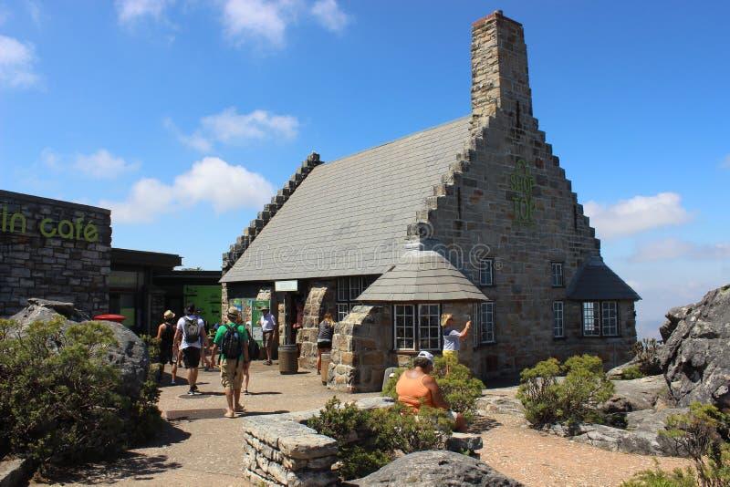 Café sur le parc national de montagne de Tableau en dehors de Cape Town, Afrique du Sud image libre de droits