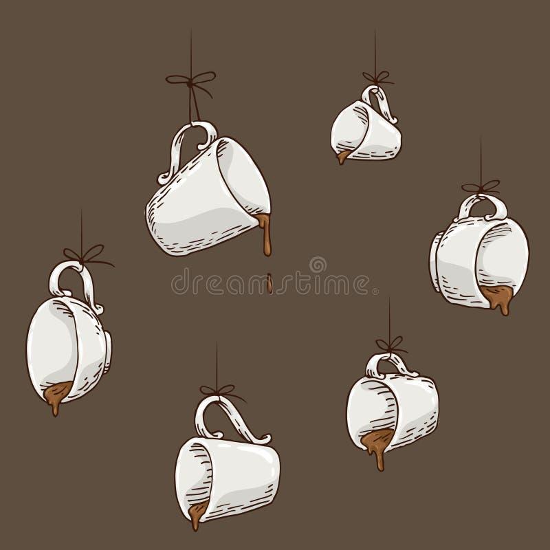 Café suspendu illustration de vecteur