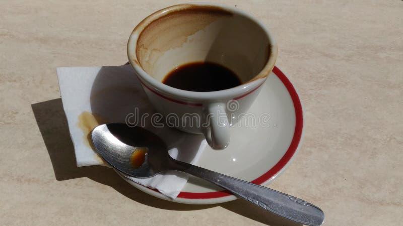 Café terminado fotografia de stock