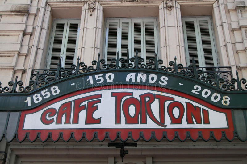 Café Tortoni imagenes de archivo