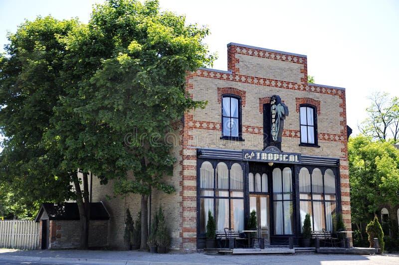 Café tropical un restaurante ficticio ofrecido en la serie de televisión de la cala del ` s de Schitt foto de archivo