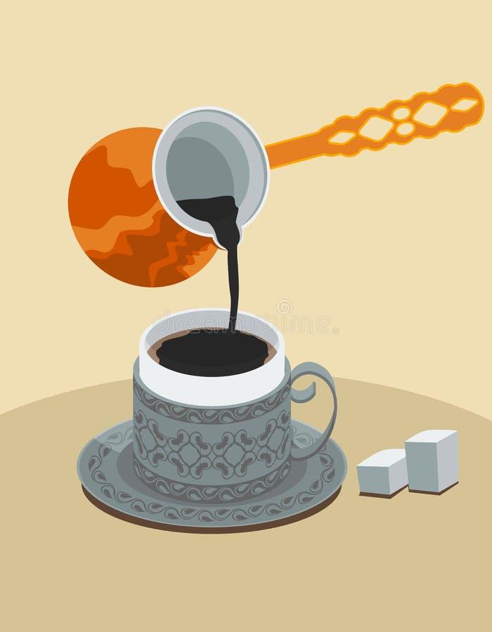 Café turco ilustração stock