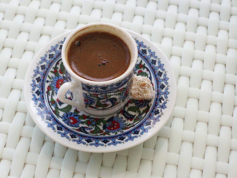 Café turco com café tradicional com prazer turco fotos de stock royalty free