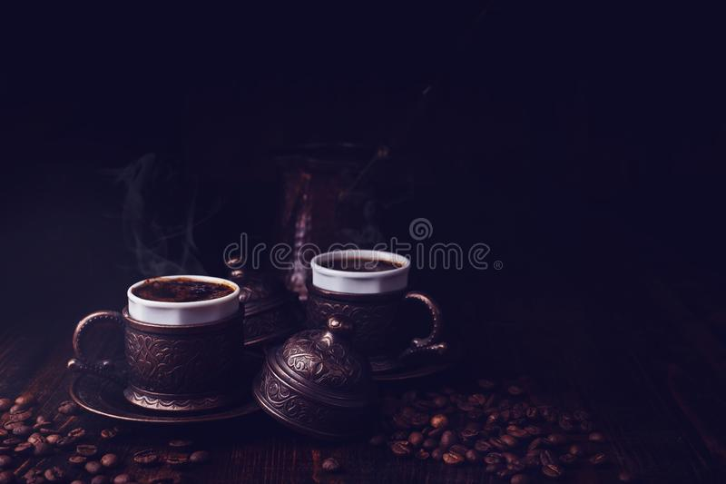 Café turco do estilo imagem de stock royalty free