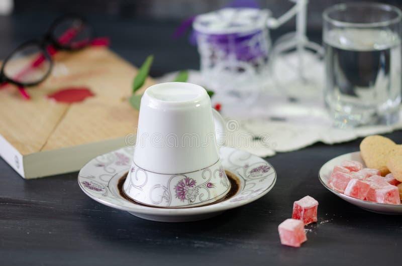 Café turco e prazer turco fotos de stock royalty free