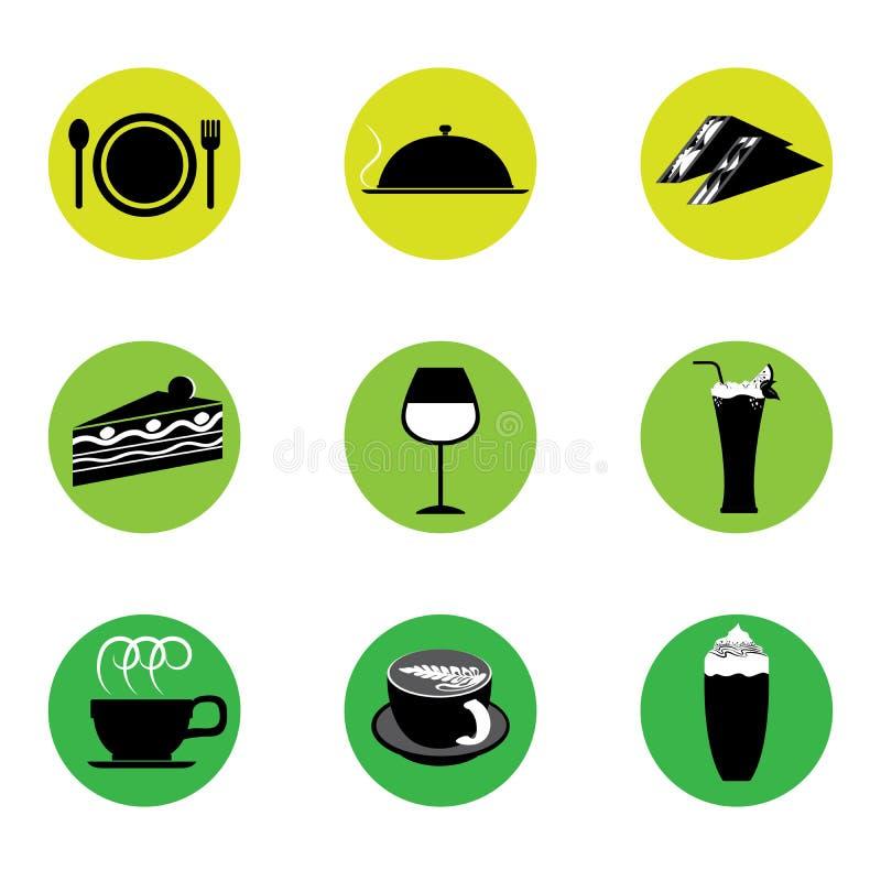 Café-und Restaurant-Ikone vektor abbildung