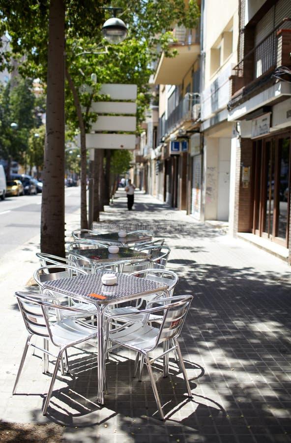 Café vacío de la calle imagenes de archivo