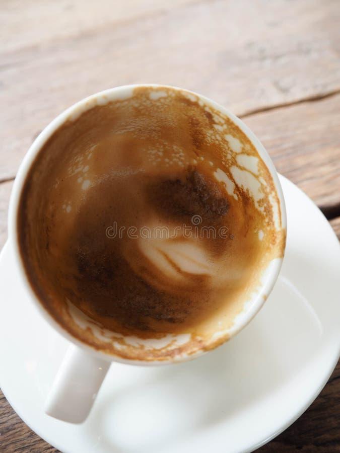 Café vazio no copo fotografia de stock royalty free