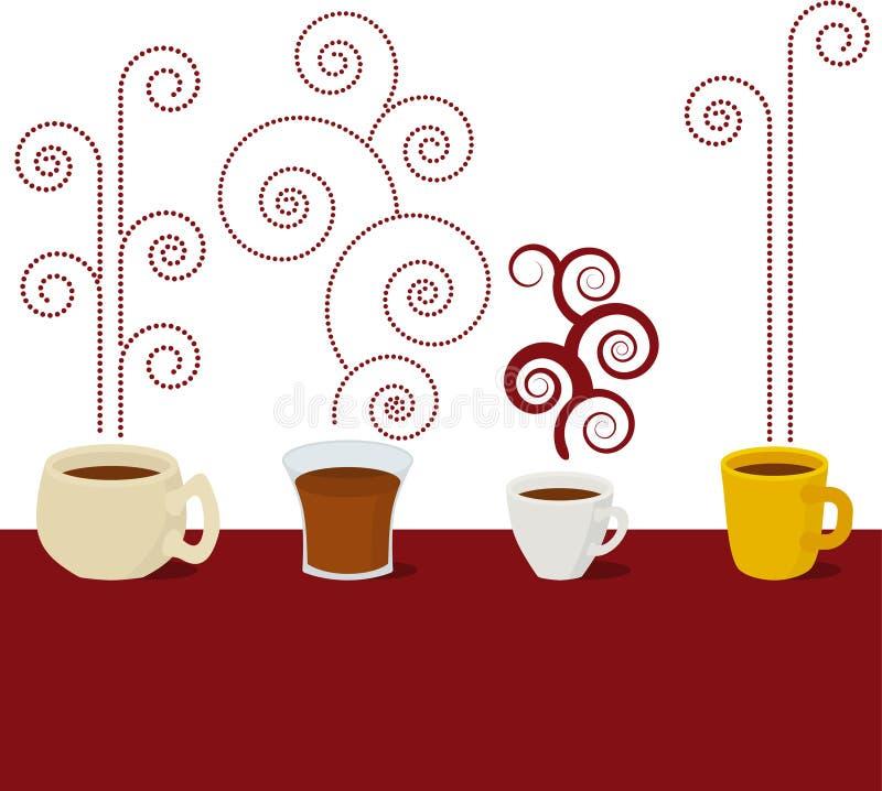 Café (vetor) ilustração royalty free
