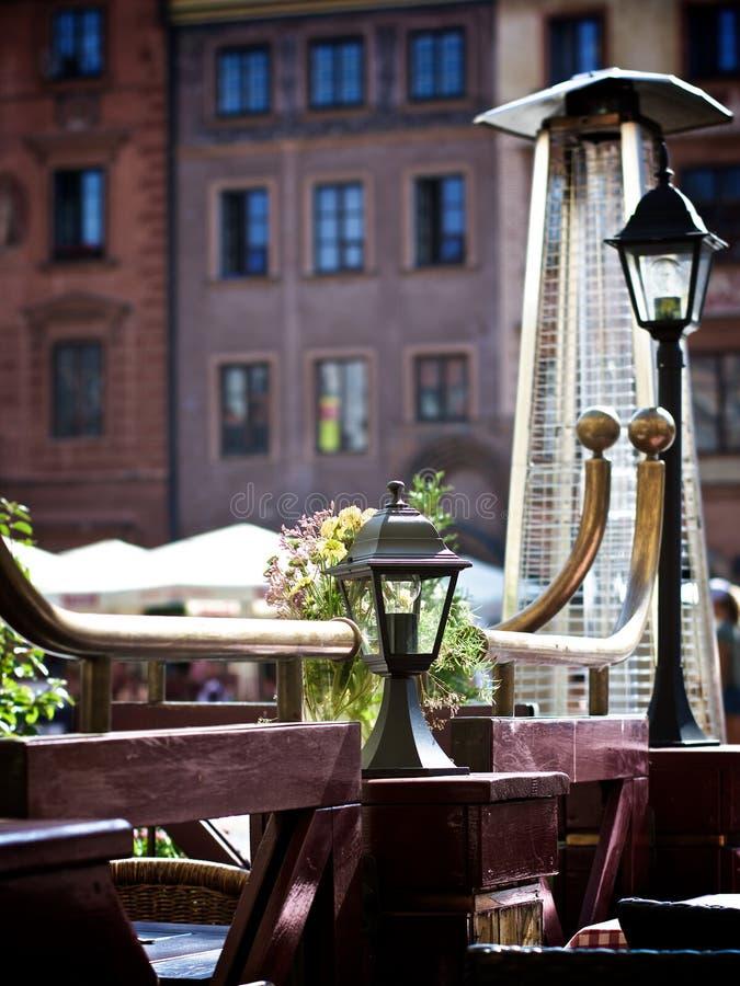 Café viejo de la acera imágenes de archivo libres de regalías