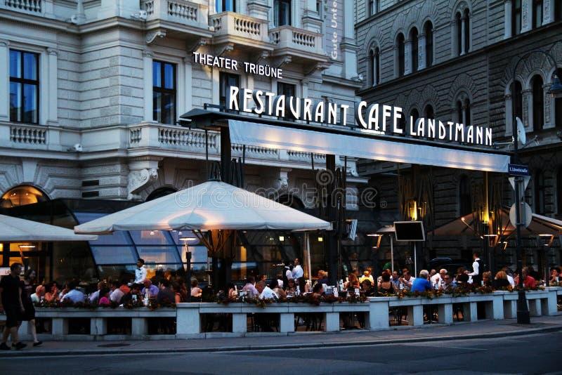 Café vienés famoso Landtmann imagen de archivo libre de regalías