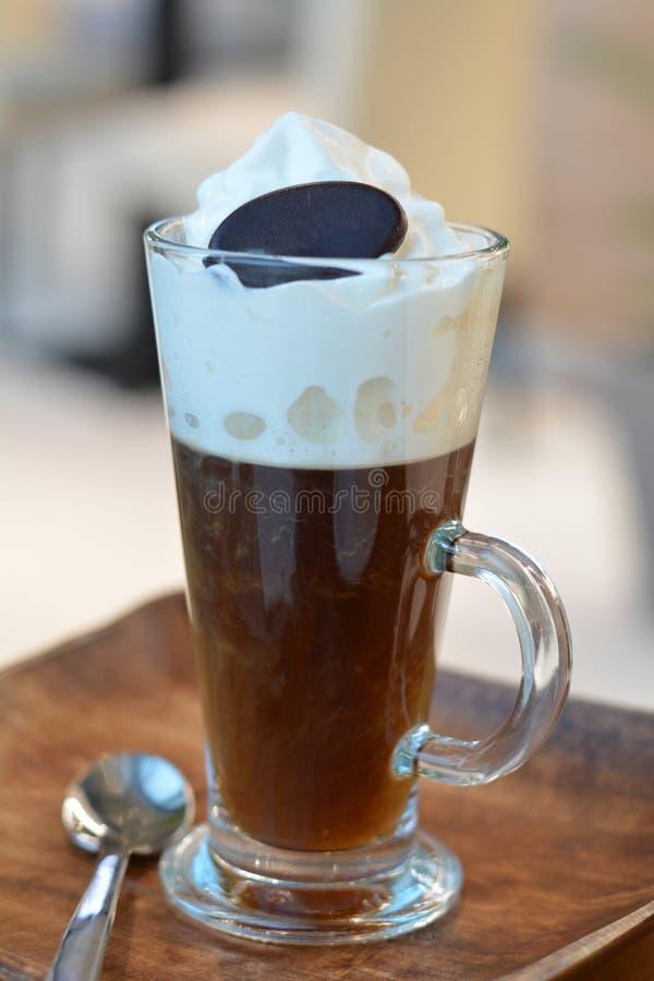 Café vienense tradicional fotografia de stock