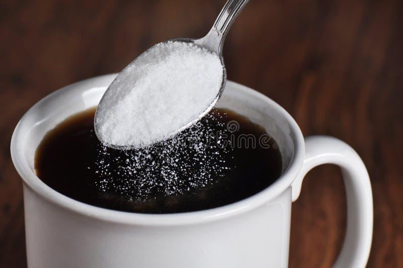 Café y azúcar imágenes de archivo libres de regalías