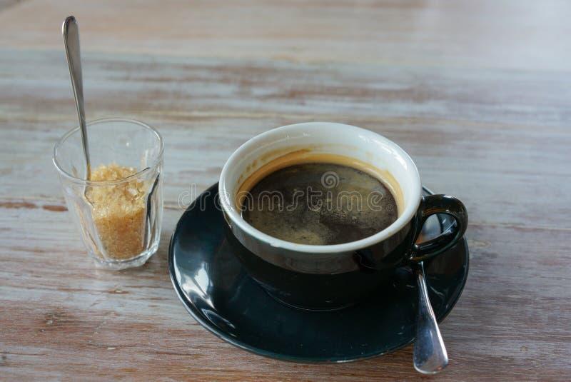 Café y azúcar imagen de archivo