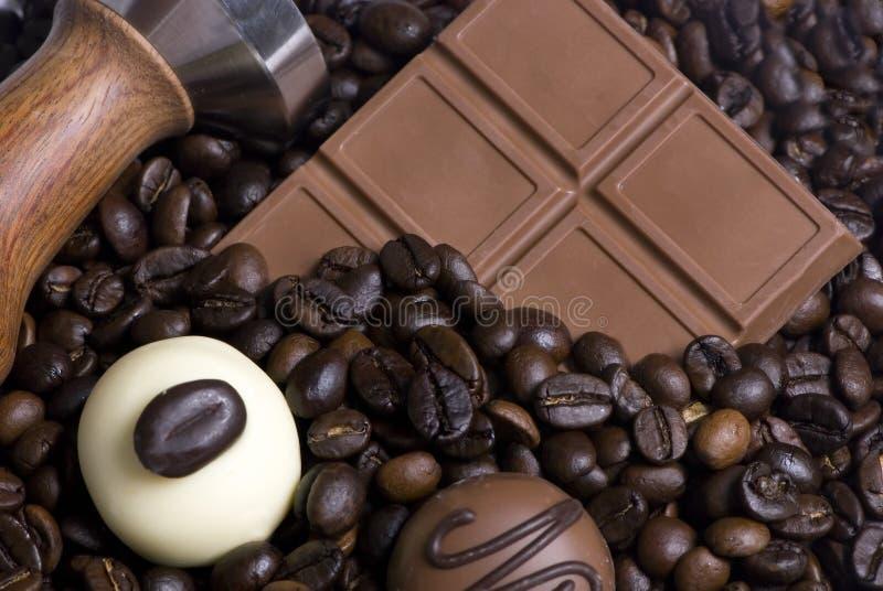 Café y chocolate 3 fotos de archivo libres de regalías