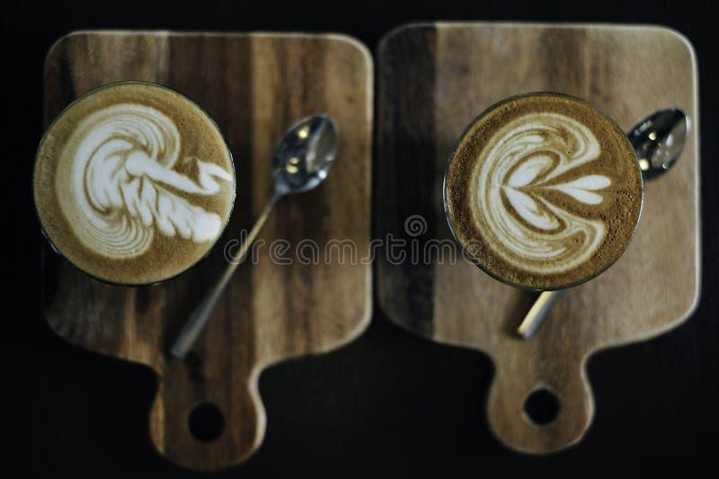 Café y coche fotografía de archivo