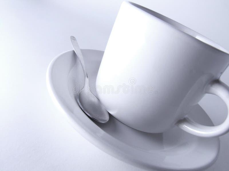 Café y cuchara imagen de archivo libre de regalías