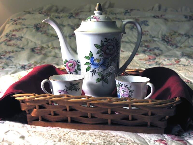 Café y edredón imagen de archivo