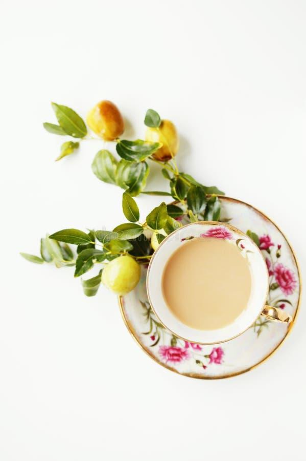 Café y frutas fotos de archivo libres de regalías