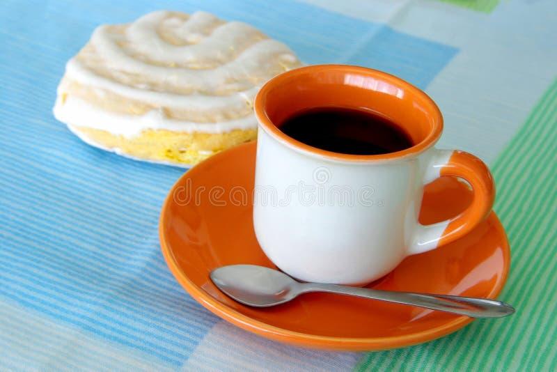 Café y galleta fotos de archivo