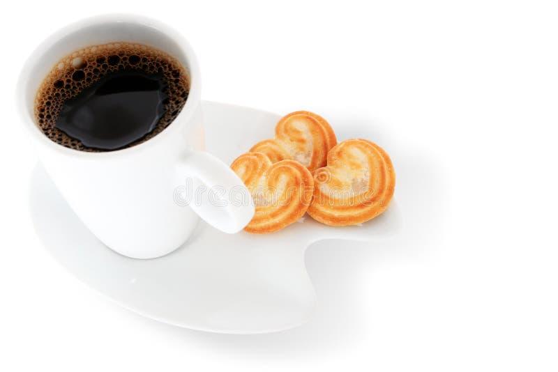 Café y galletas imagenes de archivo