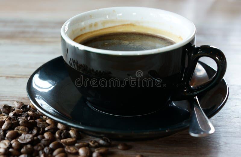 Café y haba imágenes de archivo libres de regalías