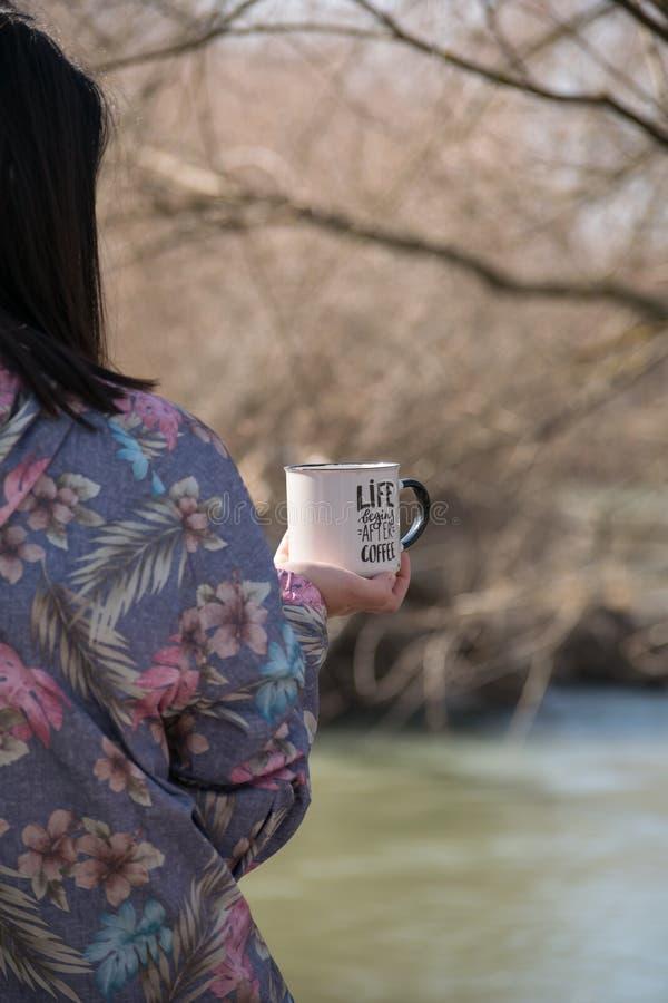Café y naturaleza foto de archivo libre de regalías
