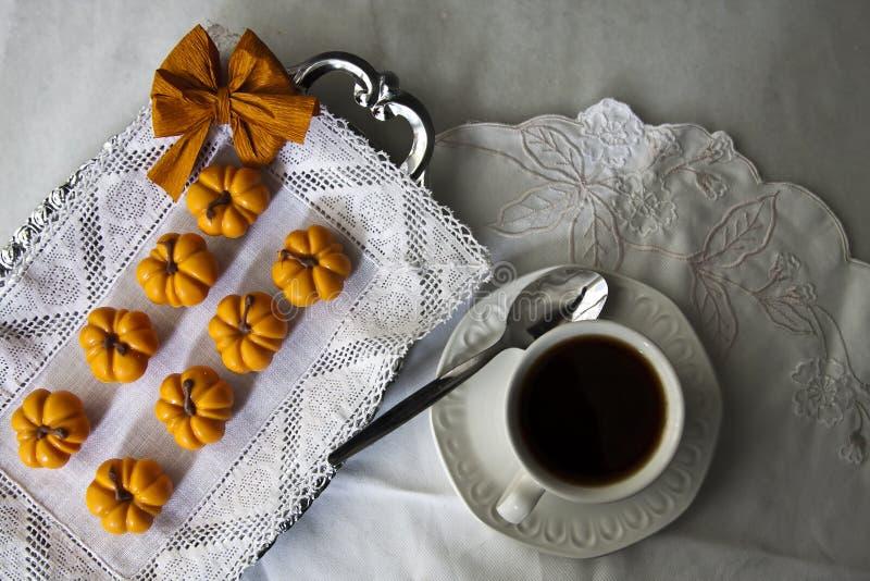 Café y postres imagen de archivo libre de regalías