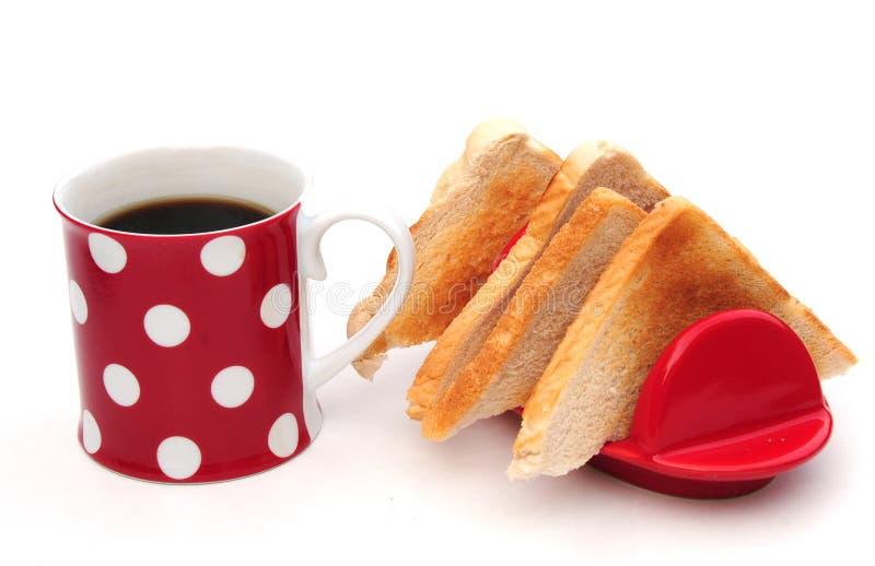 Café y tostada fotografía de archivo libre de regalías
