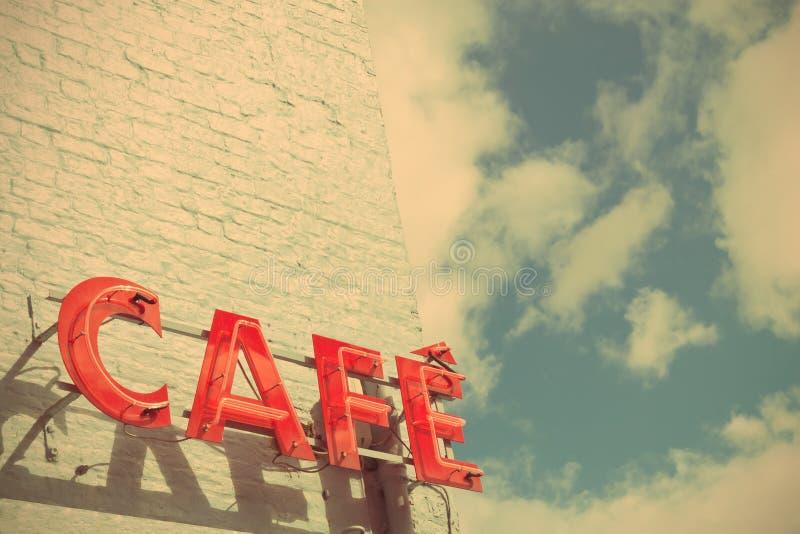 Café-Zeichen stockbilder