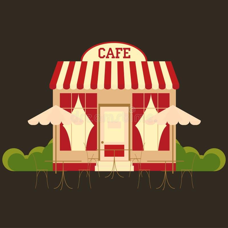 Cafécafeteria stock abbildung